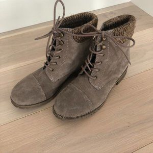 Bjorndal Phoebe Lace Up Suede Ankle Boots Size 9